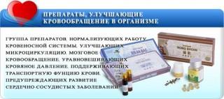 Препараты, улучшающие кровообращение в организме